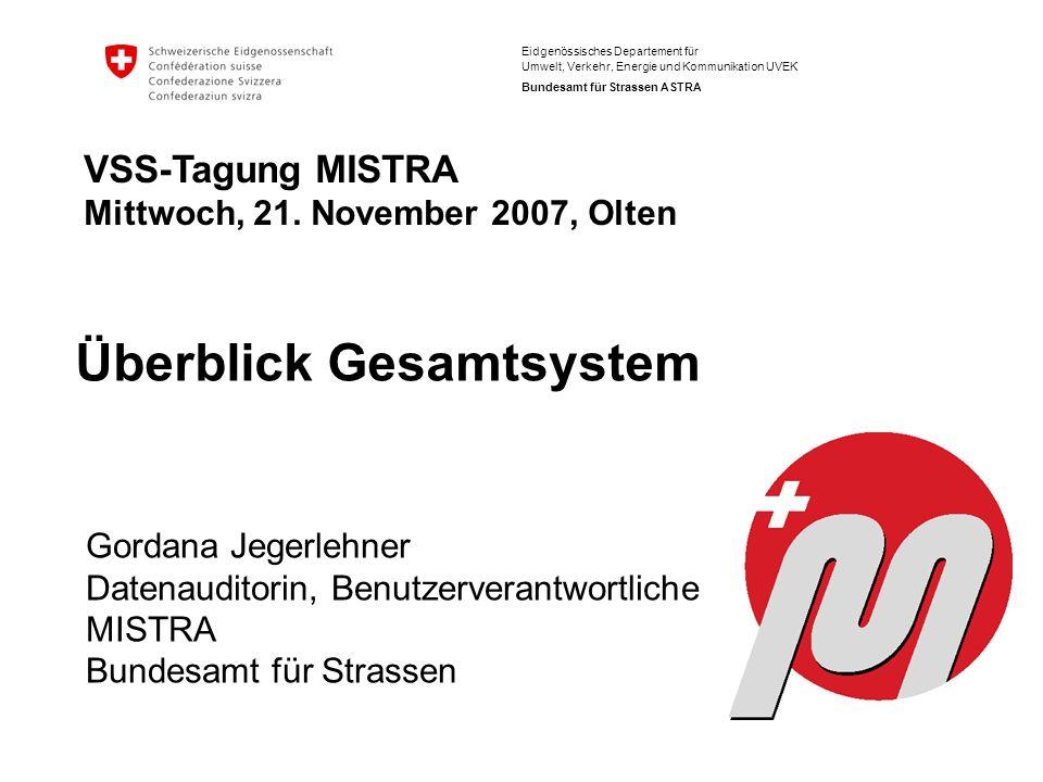 Bundesamt für Strassen ASTRA VSS Tagung, Olten, 21.11.2007 GS MISTRA, Help-Desk