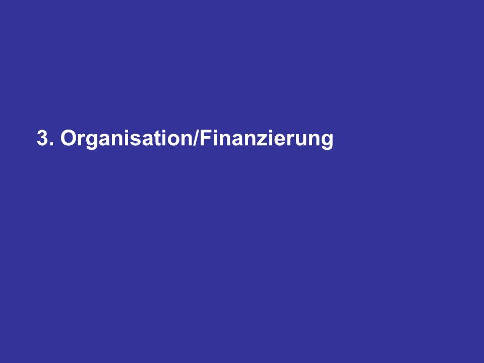 3. Organisation/Finanzierung
