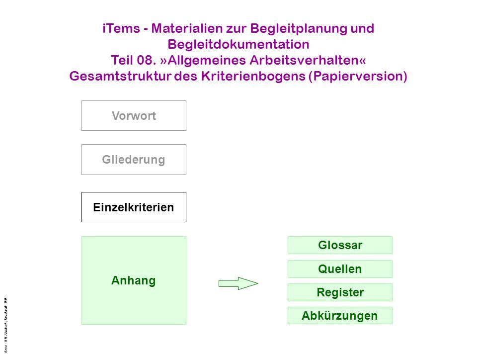 iTems - Materialien zur Begleitplanung und Begleitdokumentation Teil 08.