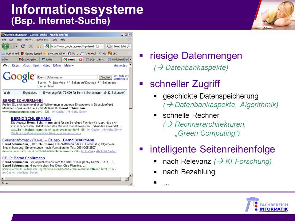 Fazit Warum nicht Informatik in Kaiserslautern.