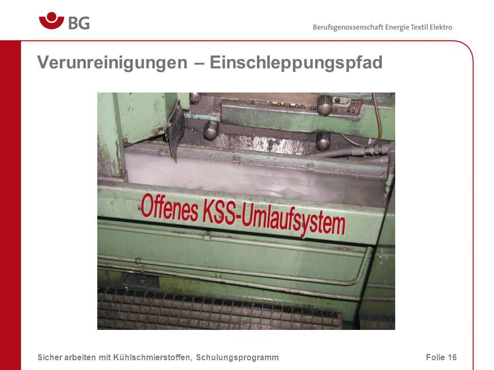 Für KSS-Emissionen sind derzeit keine Arbeitsplatzgrenzwerte in der TRGS 900 festgelegt.