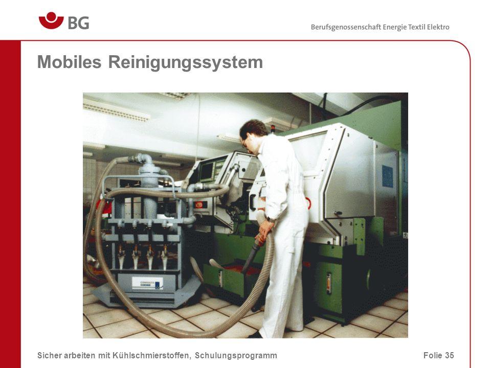 Stationäres Reinigungssystem 08.03.2014Sicher arbeiten mit Kühlschmierstoffen, SchulungsprogrammFolie 36 Das Reinigungssystem ist mit einem Bandfilter ausgestattet.