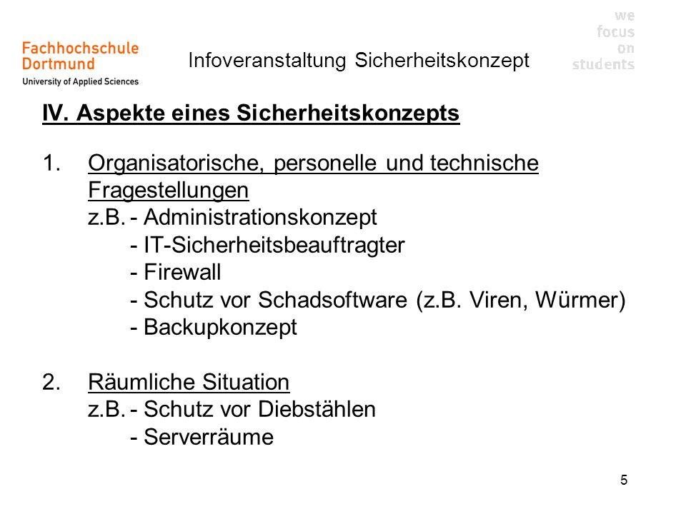 Infoveranstaltung Sicherheitskonzept 5 IV.