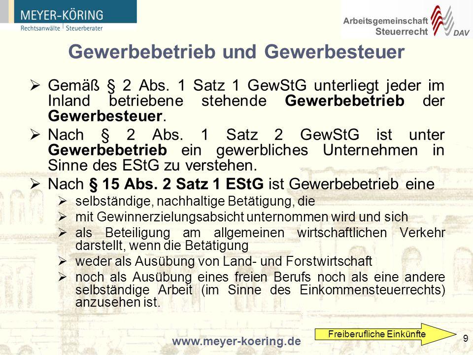 www.meyer-koering.de 40 Vermeidungsmöglichkeiten Im Zweifel wird nur die Errichtung von parallelen Kanzleien / Sozietäten bzw.