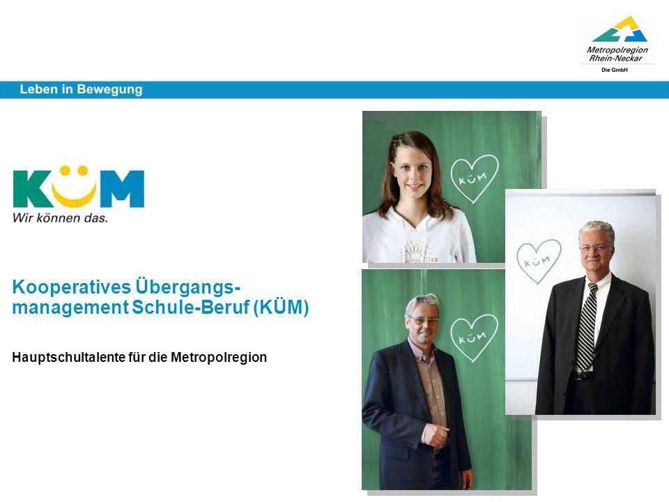 Kooperatives Übergangs- management Schule-Beruf (KÜM) Hauptschultalente für die Metropolregion