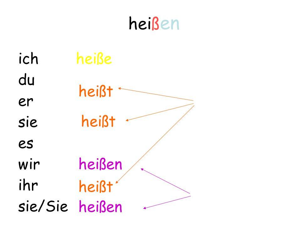 Verben im Präsens Teil IV: Verben auf Verben im Präsens Teil IV: Verben auf -ss, -ß, -z, x Achtung in der 2. Person Singular!!!
