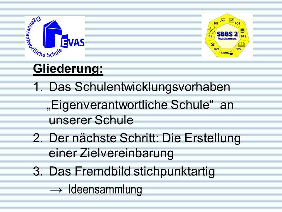 Das Schulentwicklungsvorhaben Eigenverantwortliche Schule Das Entwicklungsvorhaben Eigenverantwortliche Schule in Thüringen beschreibt eine Entwicklungsstrategie für alle Thüringer Schulen.