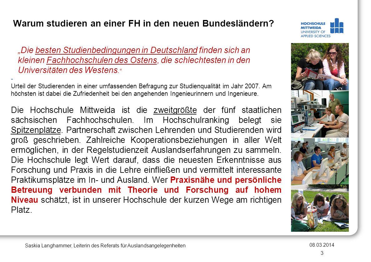 Warum studieren an einer FH in den neuen Bundesländern? Die besten Studienbedingungen in Deutschland finden sich an kleinen Fachhochschulen des Ostens