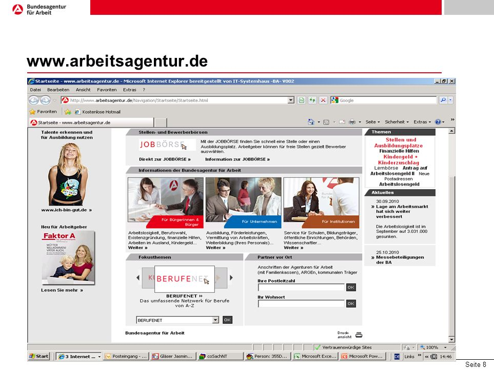 Seite 8 www.arbeitsagentur.de