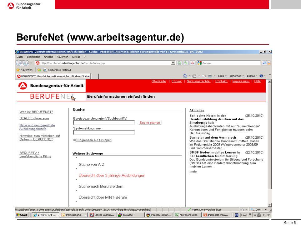 Seite 9 BerufeNet (www.arbeitsagentur.de)