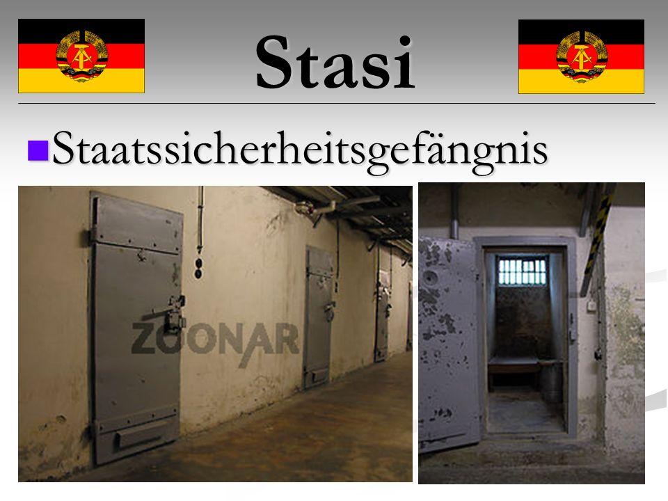 Stasi Staatssicherheitsgefängnis