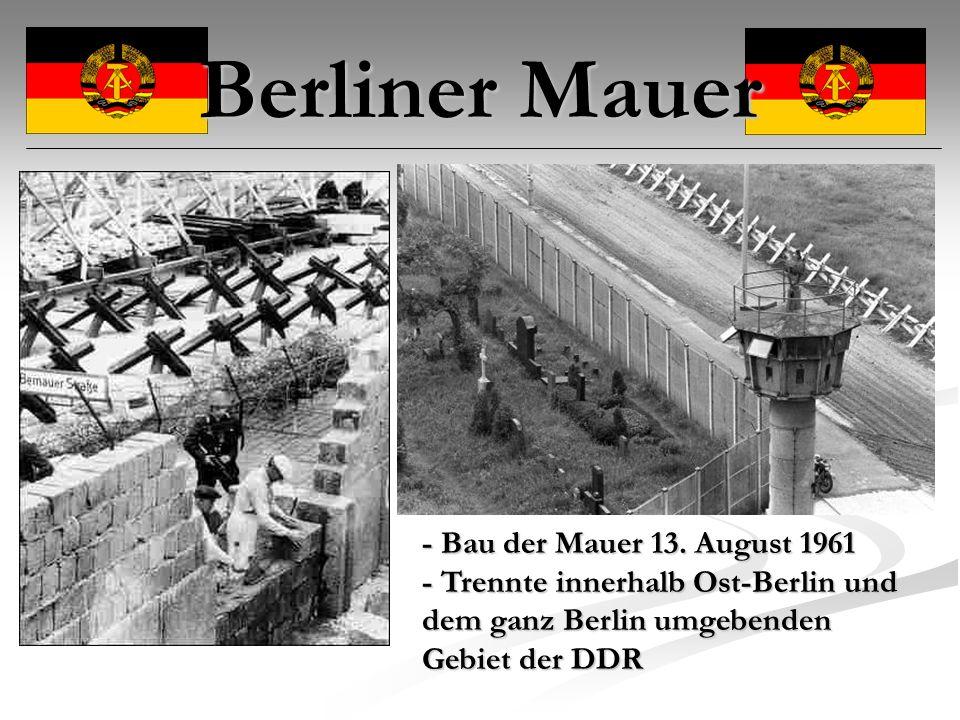 Berliner Mauer - Bau der Mauer 13.