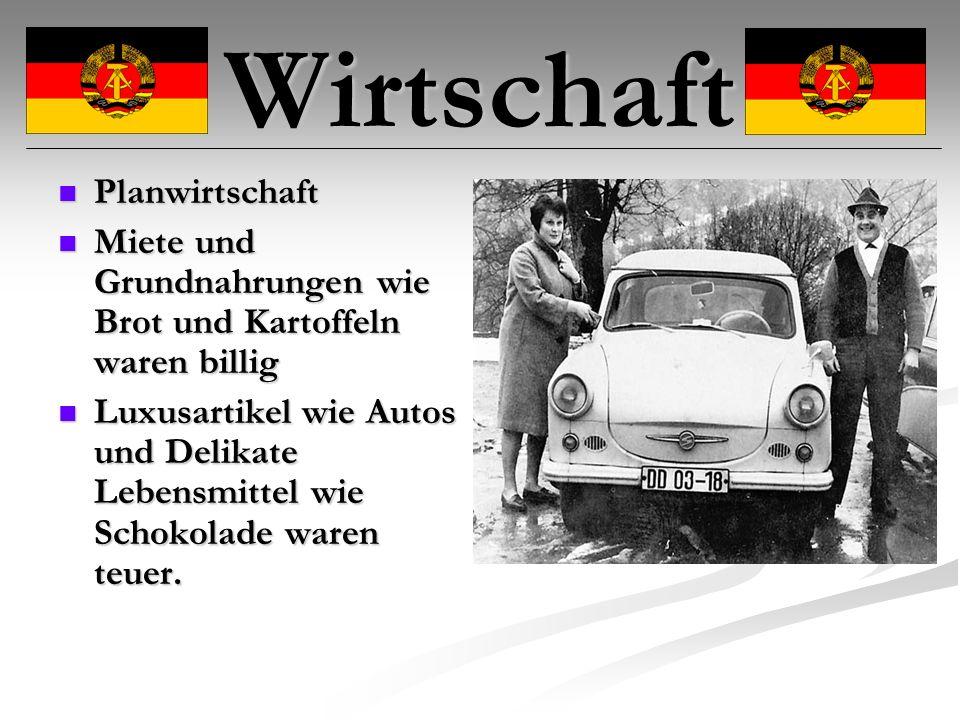 Wirtschaft Fakten: Farbfernseher kostete in den 80er 3500-6900 Mark Brötchen 5 Pfennige Auto (Trabant) 10000 Mark Neuwagen mit Wartezeit u.