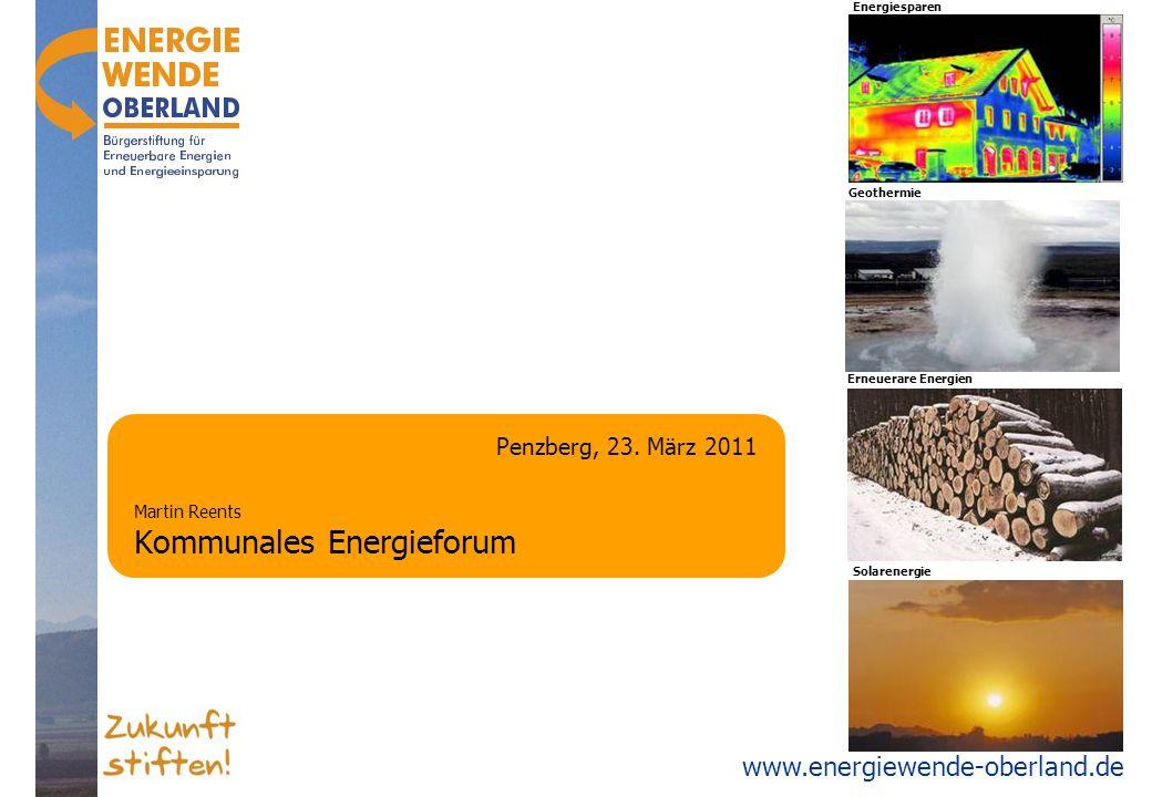 www.energiewende-oberland.de Agenda Entstehung der Bürgerstiftung Organisation und Finanzen Beispiele täglicher Arbeit Schwerpunkt: Gemeinde Ausblick