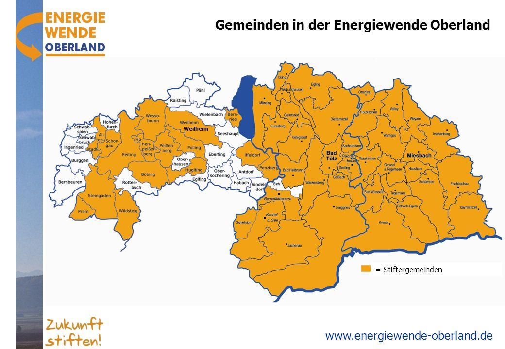 www.energiewende-oberland.de Gemeinden in der Energiewende Oberland = Stiftergemeinden Weilheim
