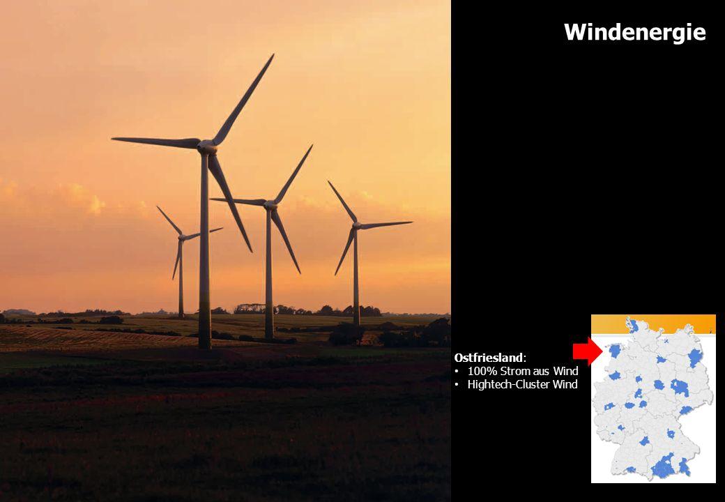 www.energiewende-oberland.de Windenergie Ostfriesland: 100% Strom aus Wind Hightech-Cluster Wind