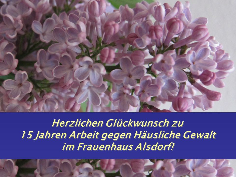 10. September 2012 J. Kuehn-Velten 2 Herzlichen Glückwunsch zu 15 Jahren Arbeit gegen Häusliche Gewalt im Frauenhaus Alsdorf!