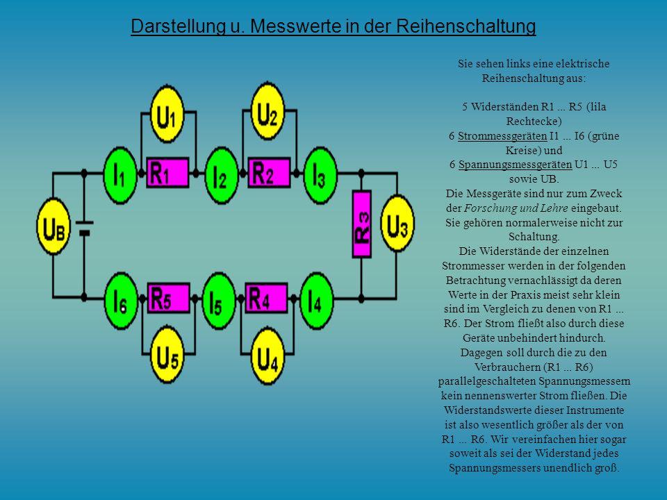 Werden n Widerstände in Reihe geschaltet, so addieren sich die Widerstände: Bei der Parallelschaltung von n Widerständen addieren sich die Leitwerte b