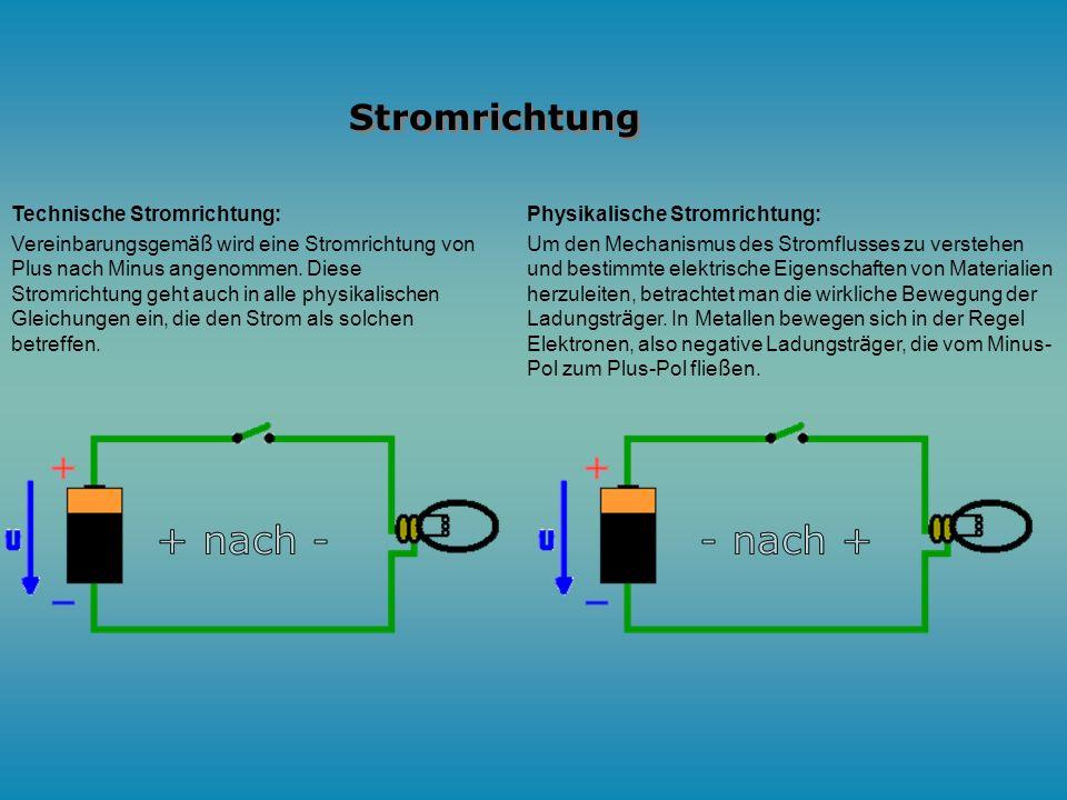 Elektrischer Strom ist in der Elektrotechnik und der Physik die Bezeichnung für eine gerichtete Bewegung von Ladungsträgern in einem Stoff oder im Vak