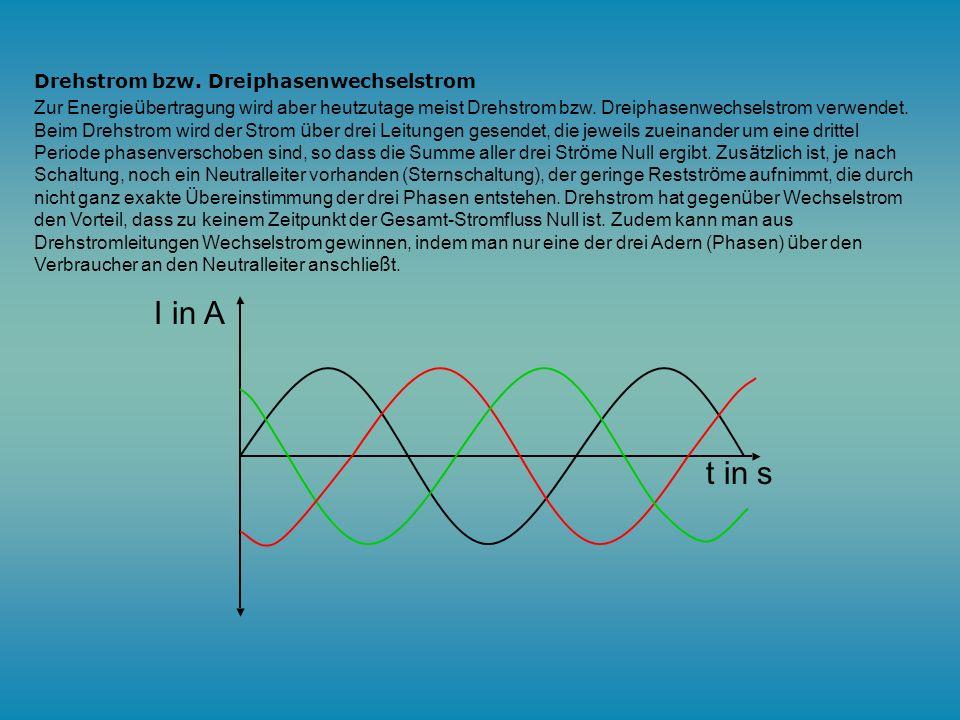 Wechselstrom: Neben dem Gleichstrom gibt es auch noch den Wechselstrom (engl. alternating current). Wechselstrom zeichnet sich dadurch aus, dass die S