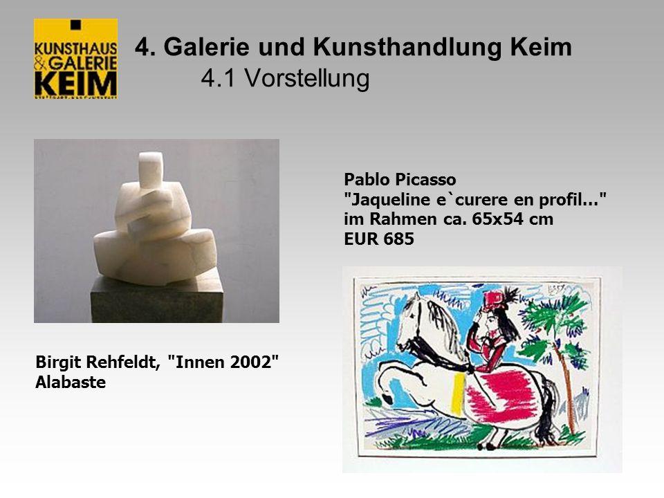4. Galerie und Kunsthandlung Keim 4.1 Vorstellung Birgit Rehfeldt,