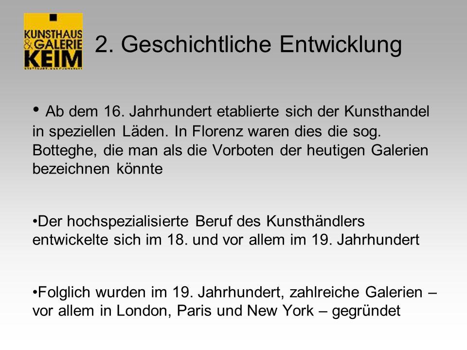 4.Galerie und Kunsthandlung Keim 4.1 Vorstellung Bilder im Wert von ca.