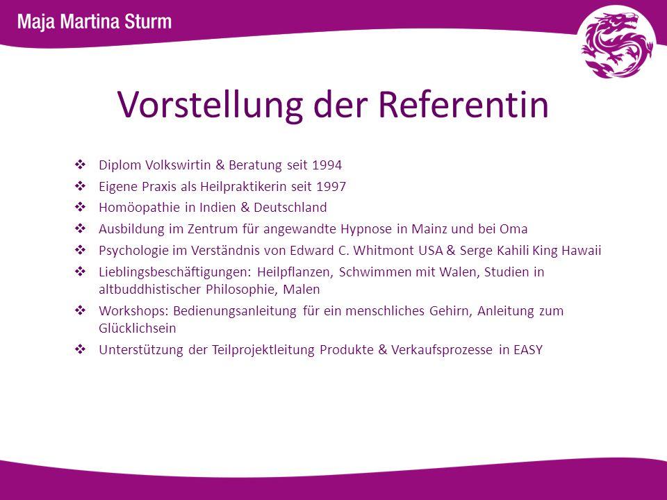 Vorstellung der Referentin Diplom Volkswirtin & Beratung seit 1994 Eigene Praxis als Heilpraktikerin seit 1997 Homöopathie in Indien & Deutschland Aus