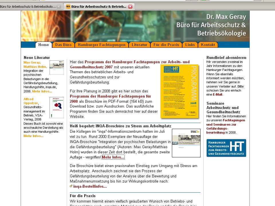 Dr. Max Geray | Büro für Arbeitsschutz und Betriebsökologie, Hamburg 37