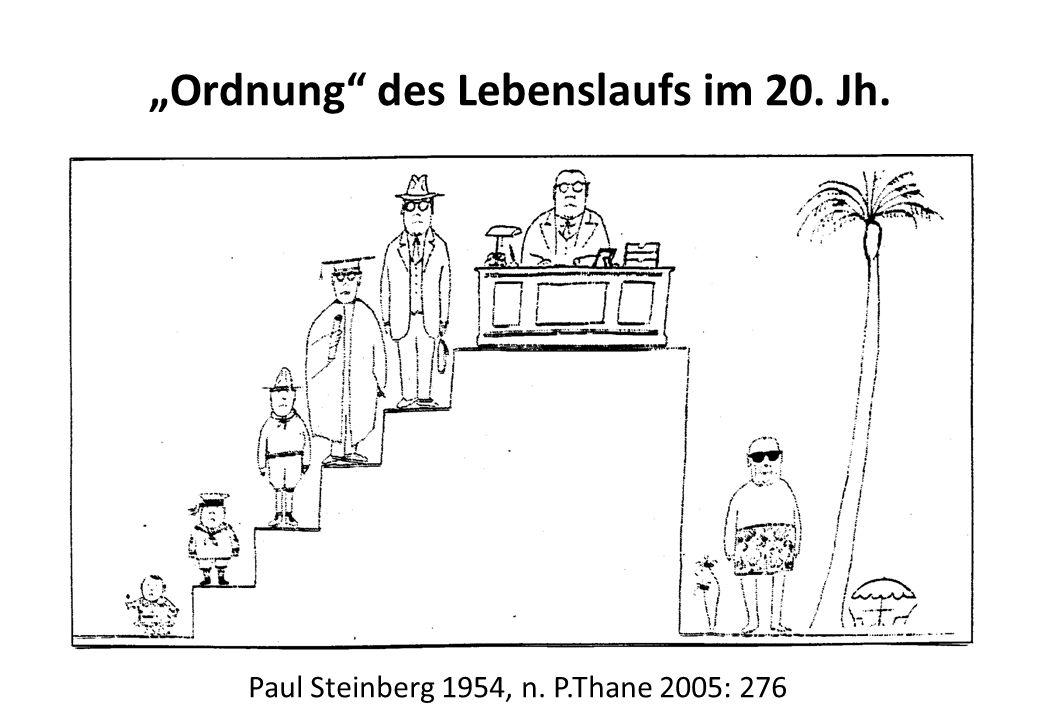Paul Steinberg 1954, n. P.Thane 2005: 276 Ordnung des Lebenslaufs im 20. Jh.