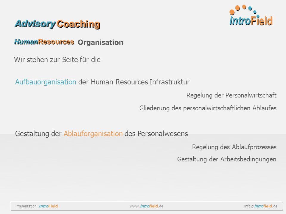 Aufbauorganisation der Human Resources Infrastruktur Regelung der Personalwirtschaft Gliederung des personalwirtschaftlichen Ablaufes Gestaltung der A