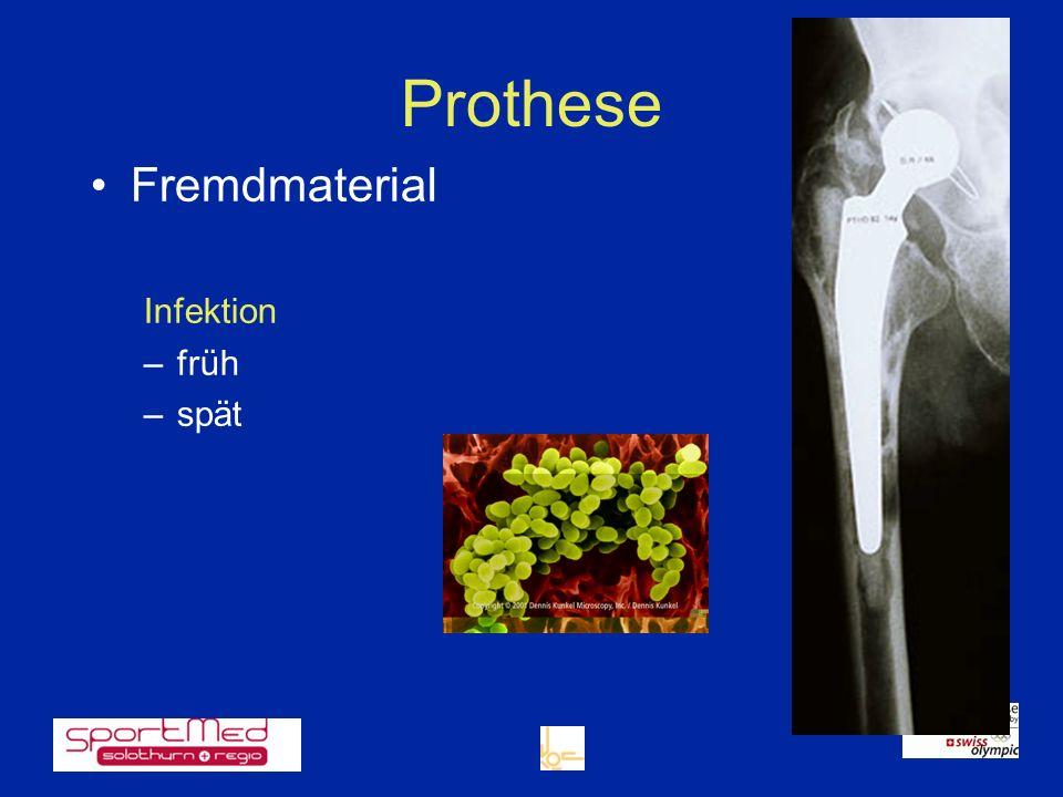 Prothese Fremdmaterial Infektion –früh –spät