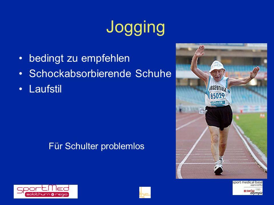 Jogging bedingt zu empfehlen Schockabsorbierende Schuhe Laufstil Für Schulter problemlos