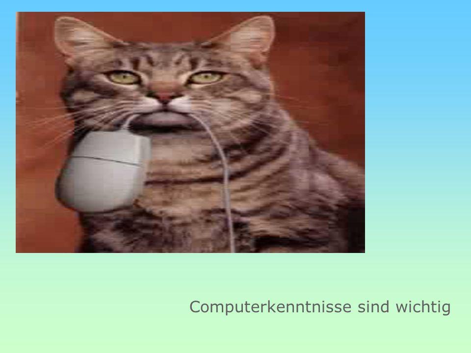 Computerkenntnisse sind wichtig