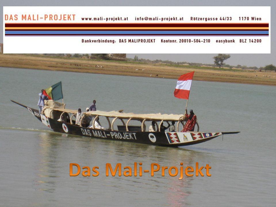 Die Pinasse ist das Symbol des Maliprojekts Wir arbeiten in drei Dörfern am Niger im Raum Mopti mit folgenden Schwerpunkten
