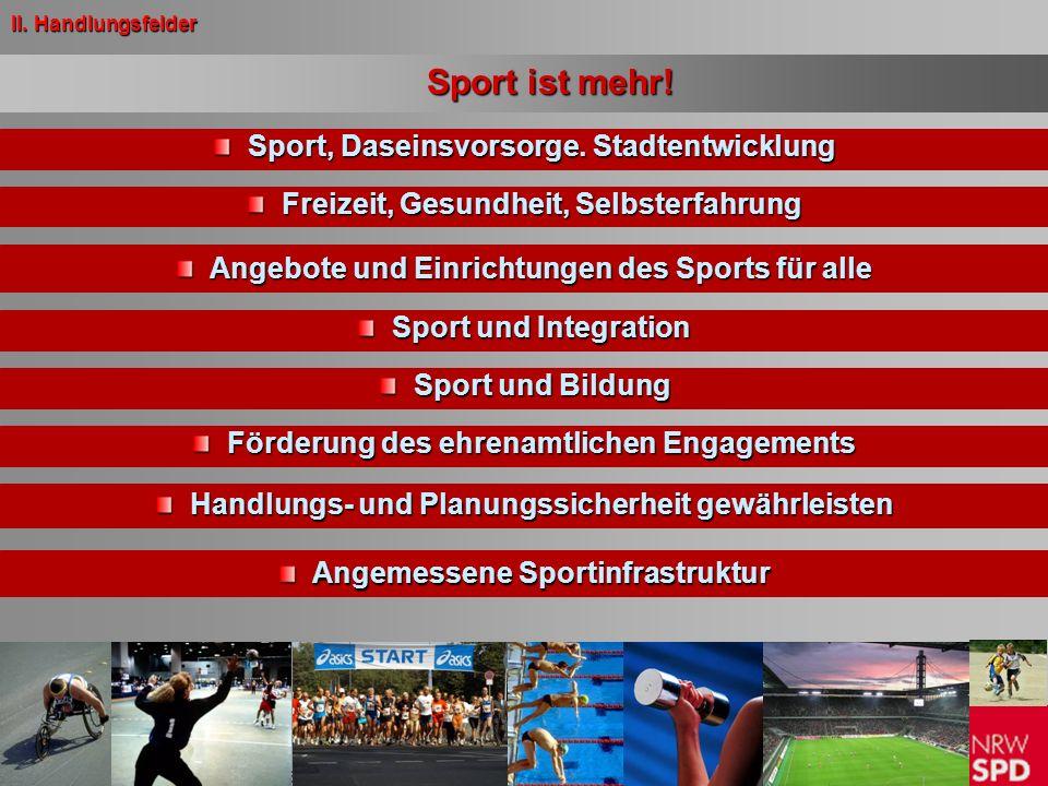 Beschluss des Landesparteitages am 5. April 2008 in Düsseldorf Sport ist mehr! Sport, Daseinsvorsorge. Stadtentwicklung Sport, Daseinsvorsorge. Stadte