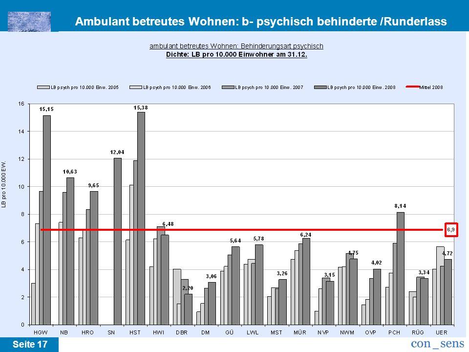Ambulant betreutes Wohnen: b- psychisch behinderte /Runderlass M-V Seite 17