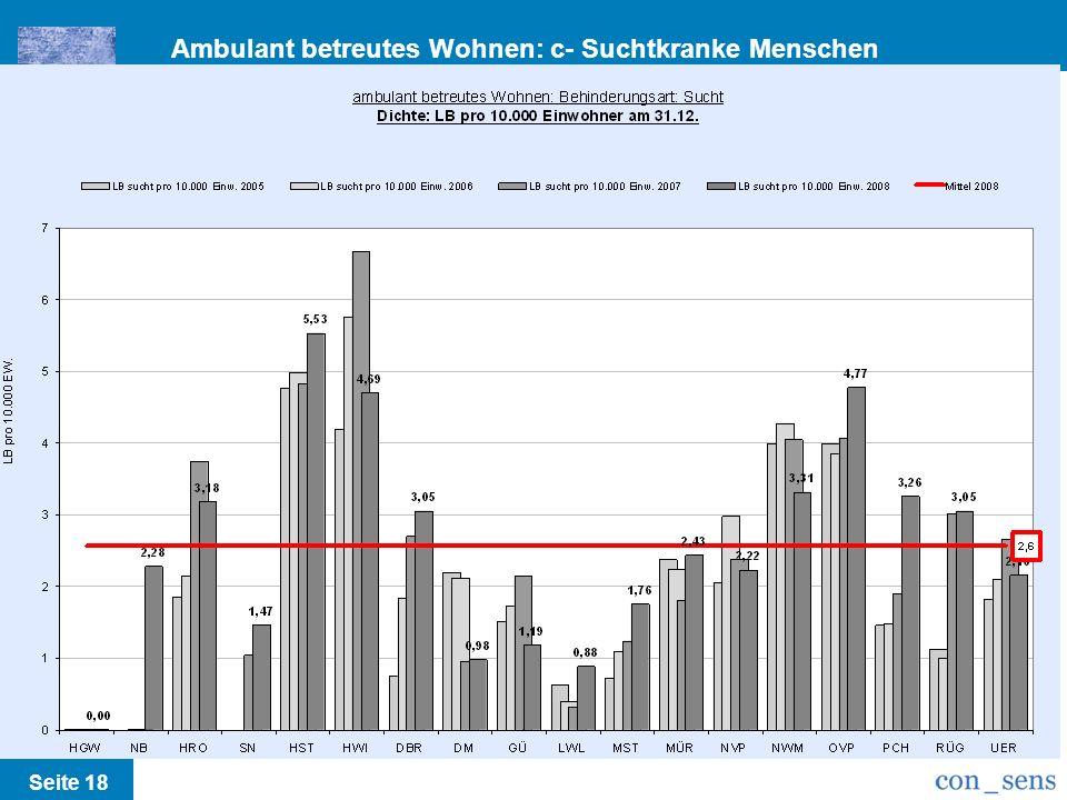 Ambulant betreutes Wohnen: c- Suchtkranke Menschen /Runderlass M-V Seite 18