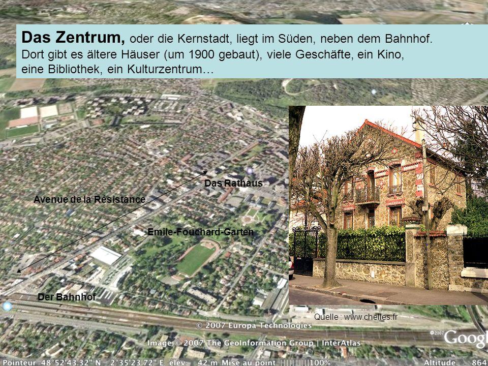 Das Zentrum, oder die Kernstadt, liegt im Süden, neben dem Bahnhof. Dort gibt es ältere Häuser (um 1900 gebaut), viele Geschäfte, ein Kino, eine Bibli