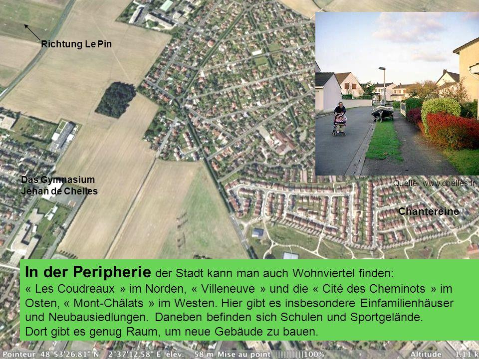 In der Peripherie der Stadt kann man auch Wohnviertel finden: « Les Coudreaux » im Norden, « Villeneuve » und die « Cité des Cheminots » im Osten, « M