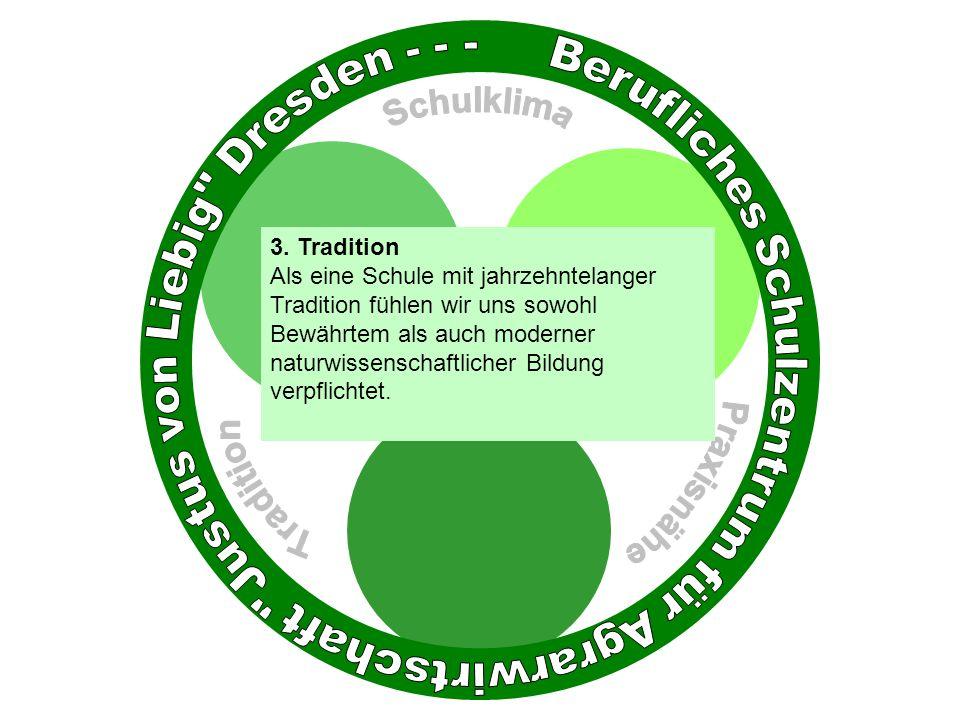 3. Tradition Als eine Schule mit jahrzehntelanger Tradition fühlen wir uns sowohl Bewährtem als auch moderner naturwissenschaftlicher Bildung verpflic