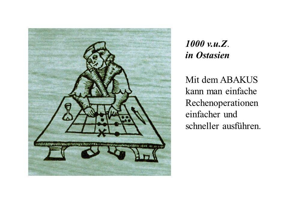 Historische Entwicklung der Rechentechnik