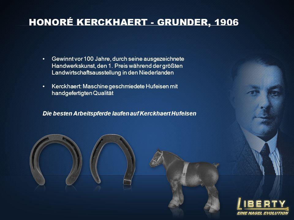 Gewinnt vor 100 Jahre, durch seine ausgezeichnete Handwerkskunst, den 1. Preis während der größten Landwirtschaftsausstellung in den Niederlanden Kerc