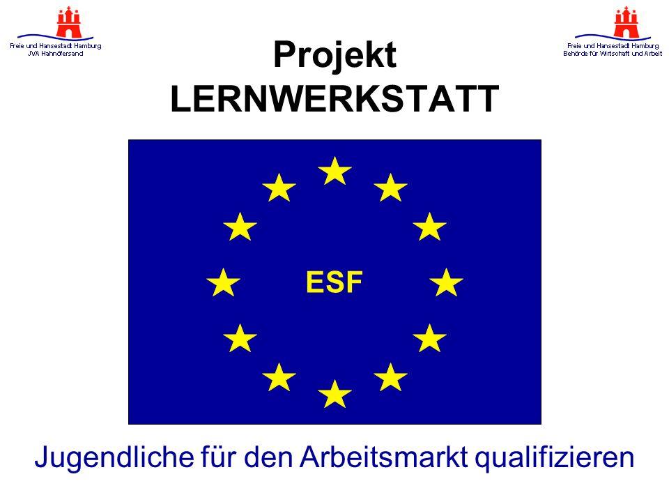 Jugendliche für den Arbeitsmarkt qualifizieren ESF Projekt LERNWERKSTATT