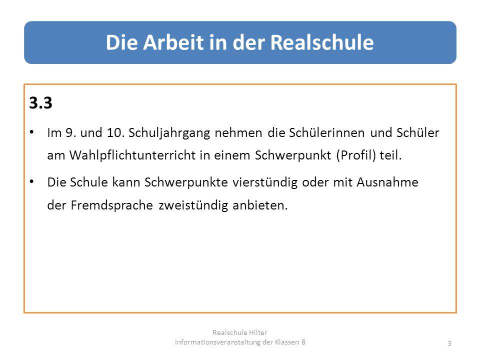 5.4.2 Die Wahl eines Schwerpunktes (Profilwahl) im 9.
