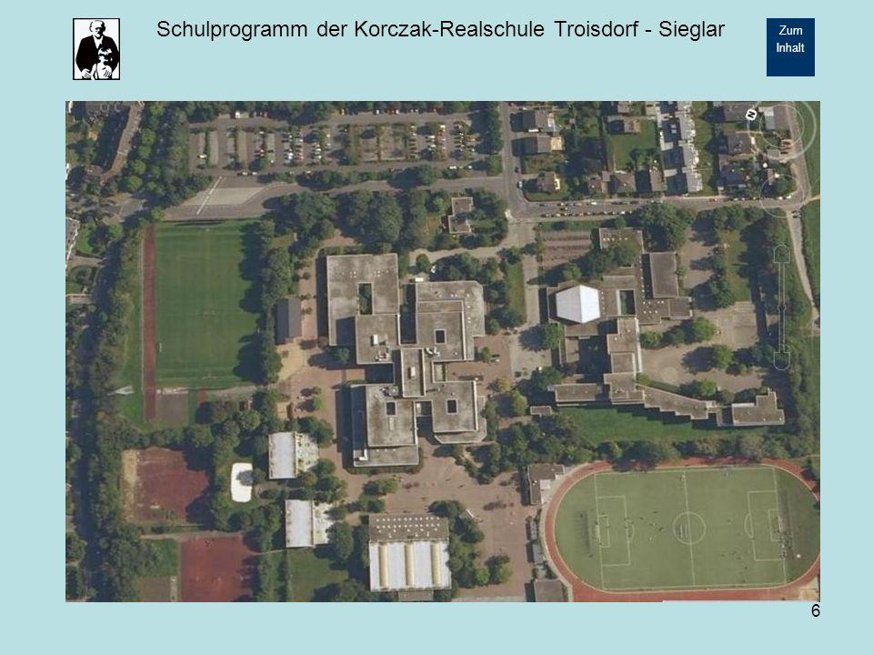 Schulprogramm der Korczak-Realschule Troisdorf - Sieglar Zum Inhalt 17 2.2.7 Soziales Praktikum Im 1.Halbjahr der Klasse 10 nehmen die Schülerinnen und Schüler an einem Sozialen Praktikum teil.