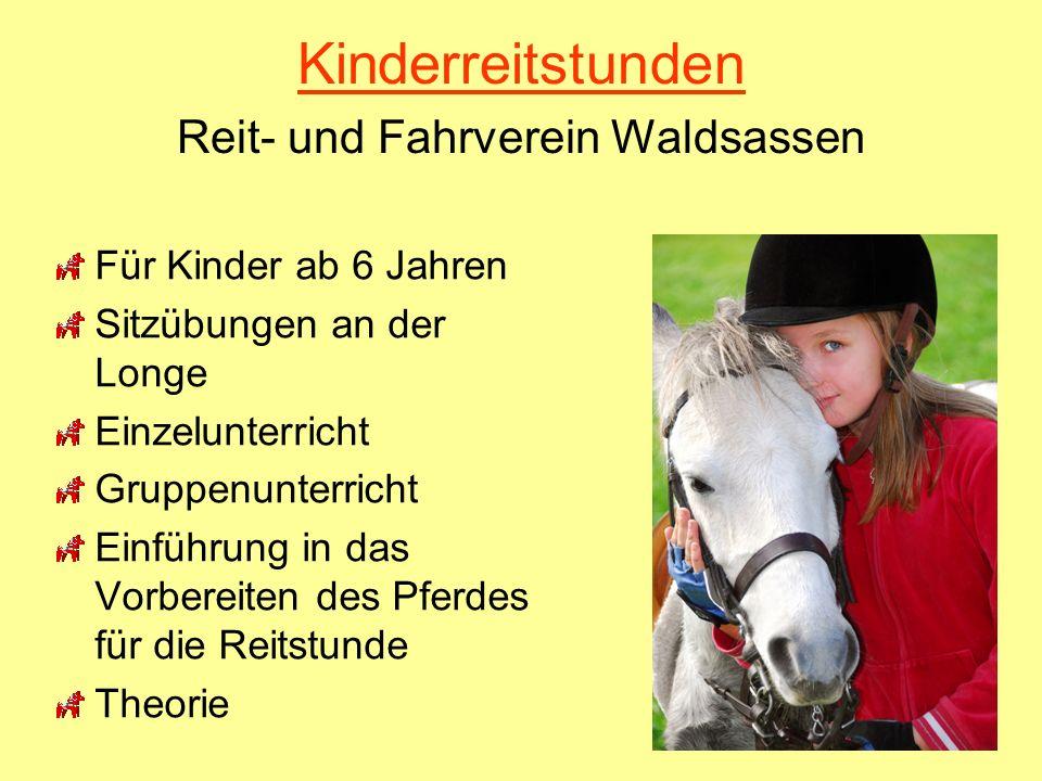Kinderreitstunden Reit- und Fahrverein Waldsassen Für Kinder ab 6 Jahren Sitzübungen an der Longe Einzelunterricht Gruppenunterricht Einführung in das
