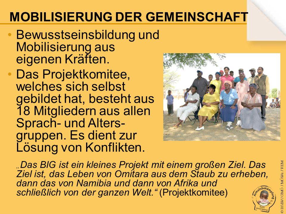 © BfdW / GMÖ / MÖWe / VEM Bewusstseinsbildung und Mobilisierung aus eigenen Kräften.