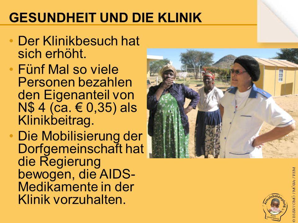 © BfdW / GMÖ / MÖWe / VEM Der Klinikbesuch hat sich erhöht.