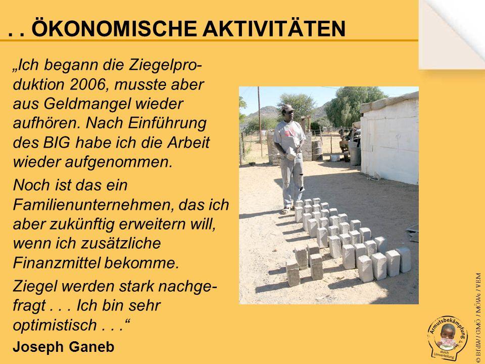 © BfdW / GMÖ / MÖWe / VEM Ich begann die Ziegelpro- duktion 2006, musste aber aus Geldmangel wieder aufhören.