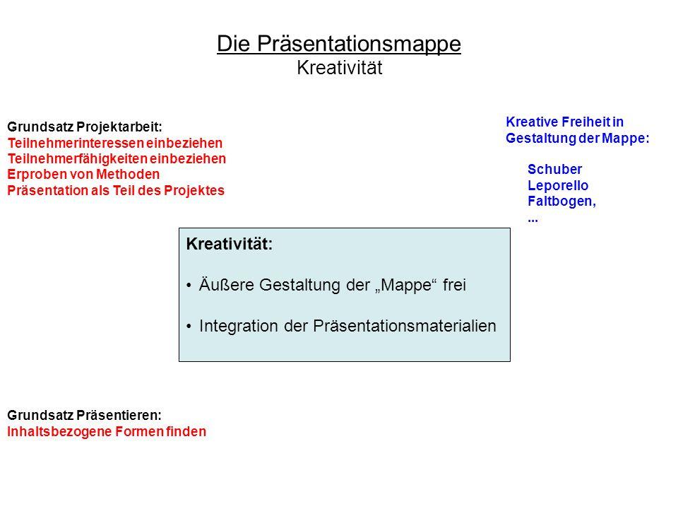 Grundsatz Projektarbeit: Teilnehmerinteressen einbeziehen Teilnehmerfähigkeiten einbeziehen Erproben von Methoden Präsentation als Teil des Projektes
